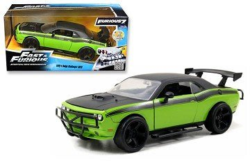 (I LOVE樂多)日本進口 Jada 1/24 Dodge Challenger SR道奇消光黑綠色側身玩命關頭模型車