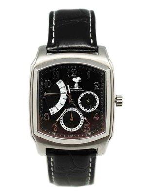 【卡漫迷】Snoopy 手錶 黑 ㊣版 強化水晶 史努比 史奴比 女錶 男錶 月曆功能 日期 星期 五折出清
