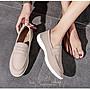 EmmaShop艾購物-早秋新品正韓同步上新復古英倫風真皮福樂鞋頭包鞋/休閒鞋/平底鞋/最大到40號