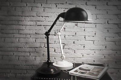 【輕工業家具 】復刻法國號雙節檯燈-French Horn工業風設計師款機械手臂台燈