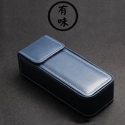 【美樂百貨】日本手工皮眼鏡盒復古便攜個性余文樂YELLOWS 近視太陽眼鏡盒簡約