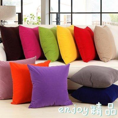 (免運)純色沙發抱枕床頭大靠背套辦公室靠墊汽車靠枕含芯腰枕【莉芙小鋪】
