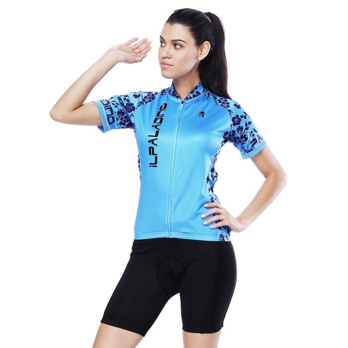 【Paladin】女款短袖車衣褲套裝 :: 紫藤花