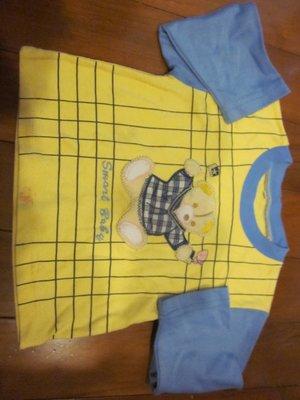 二手童裝出清--黃色小熊長袖上衣