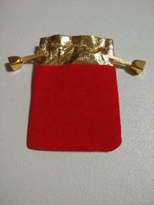 訂製批發紅絨布袋紅色絨布袋福袋金邊金幣樣式帶扣包頭珠寶首飾袋手串佛珠錦囊束口袋飾品收納小布袋植絨袋絨布套包裝套氣泡袋子