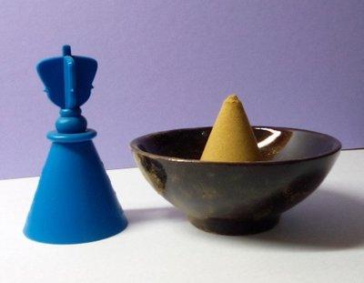 @居士林@寶蓋-金剛法印-香粉末成型器-香錐香塔(藍色誅降)