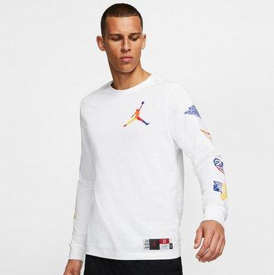 Nike Jordan Tee 飛人 Logo 運動長袖 薄長t 男裝 At8939-100 白