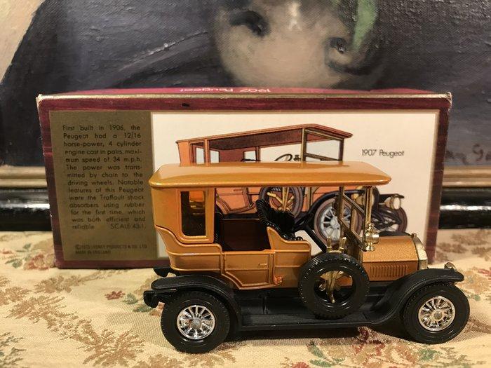 歐洲古物時尚雜貨 英國 手工 金黃色金屬車 1907 Models Of Yesteryear 擺飾品 古董收藏