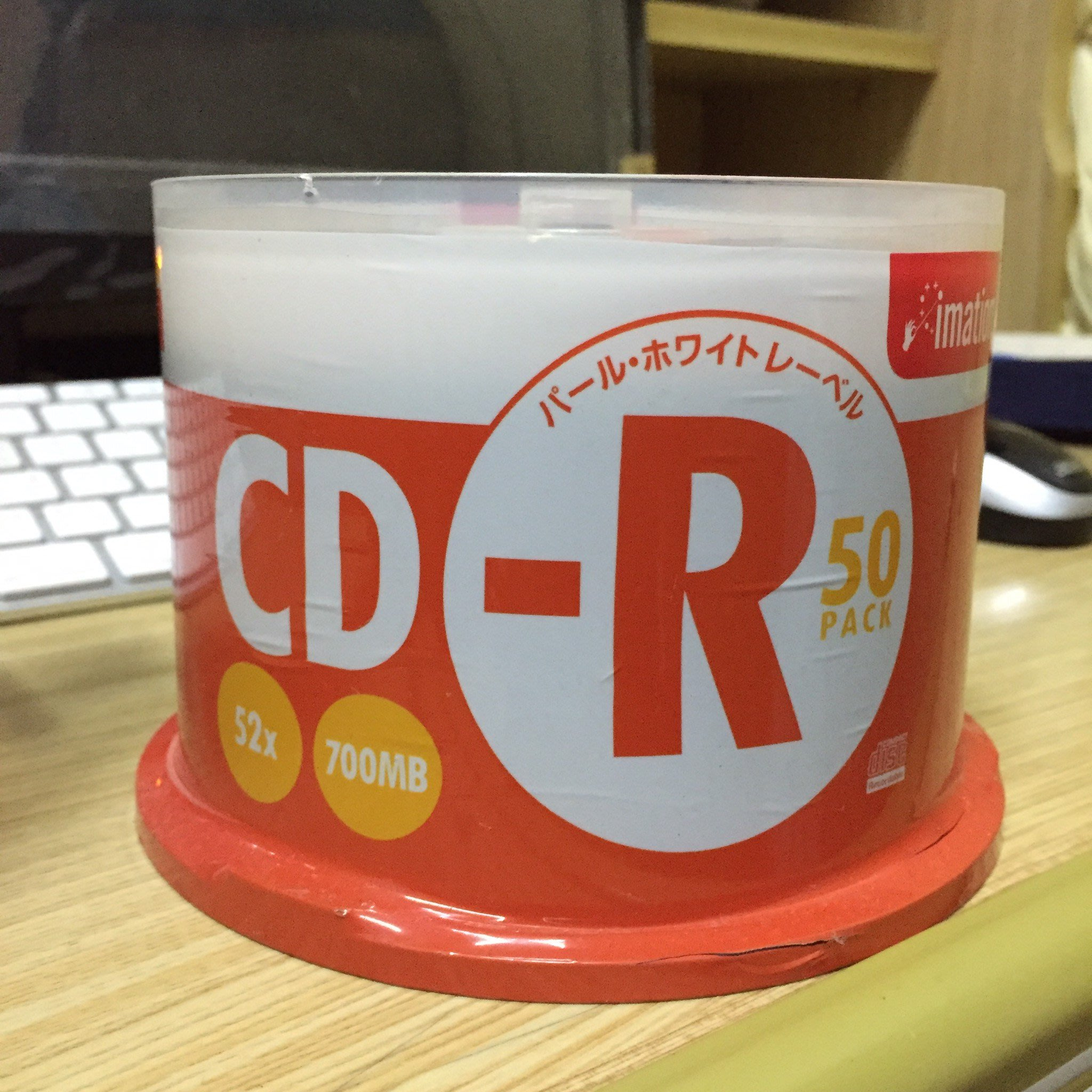 [出清] 日本進口 Imation 怡敏信 CD-R 可印式滿版燒錄片 700MB 50片(三菱/中環/錸德 可參考)