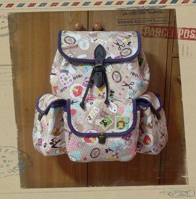 手工拼布包~童趣旅行後背包