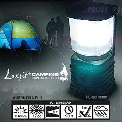 露營用品防颱風照明LUXSIT CAMPING LED高亮度野營燈(綠色)【AH12002】JC雜貨