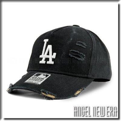 【ANGEL NEW ERA 】MLB Old Fashioned Cap LA  道奇 洛杉磯 水洗 破壞 卡車帽 黑