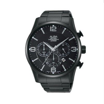 可議價「1958鐘錶城」ALBA雅柏 PRODUCT 男 三眼計時 石英腕錶(AT3819X1) 45mm