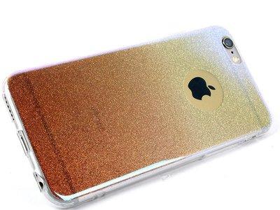 [GIFUTO] Apple iPhone 6/6s Plus 5.5吋 閃亮亮粉漸層保護套 軟殼 – 粉金