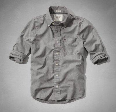 A&F Abercrombie&Fitch Panther Gorge Shirt 素面襯衫 S號