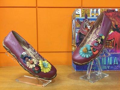 ~阿典鞋店~~~Macanna~~麥坎納專櫃~墨杜莎系列~加州忍花~炫彩犂牛彩虹花~ 羊皮 牛皮氣墊鞋1105