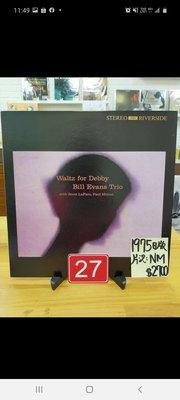 台中麗之音二手黑膠唱片行 Bill  Evans waltz for Debby 爵士鋼琴 1975日版
