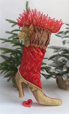 海迪聖誕襪子聖誕禮物袋聖誕送禮袋子襪子聖誕節壁櫥裝飾掛件單個