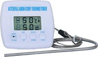 [捷克科技] TA-238 警報型 溫度計 可用於鍋內 煮糖 . 油溫 測量 . 有倒數計時警報功能