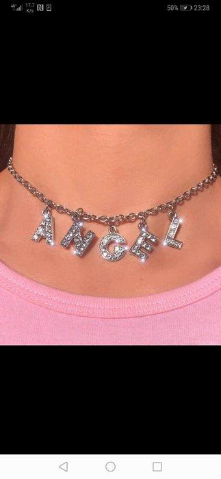 閃亮晶鑽Angel項鍊 設計師款