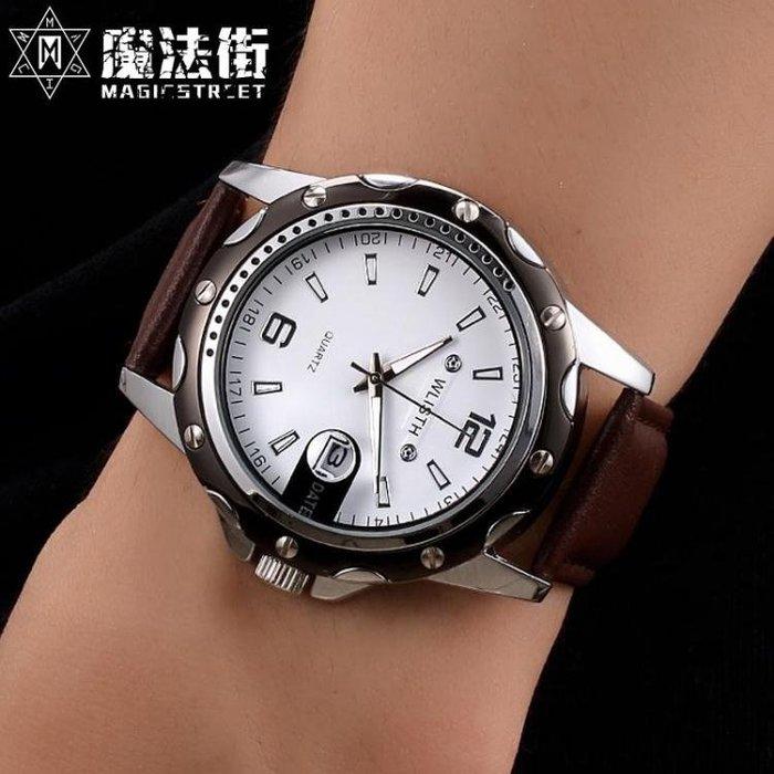 全自動男士手錶防水時尚款新款仿水精鋼腕錶