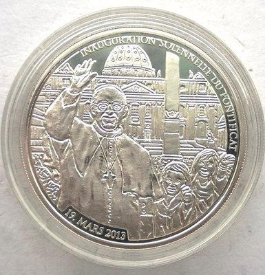 【鑒 寶】(世界各國錢幣)多哥2013年弗蘭茨一世500法郎精製全新銀幣,帶盒帶證書 WGQ3023