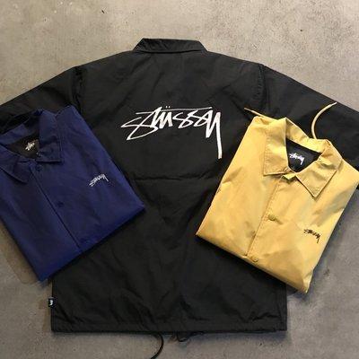 ☆LimeLight☆ STUSSY CRUIZE COACH JACKET 排扣 教練外套 黑色 & 黃 & 深藍&綠