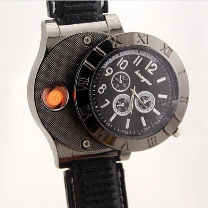 手錶點菸器665 經典時尚男性手錶 造型打火機 點煙器【GF458】☆EZ生活館☆