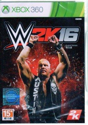 現貨中 XBOX360 遊戲 WWE 2K16 美國勁爆職業摔角 英文亞版 【板橋魔力】