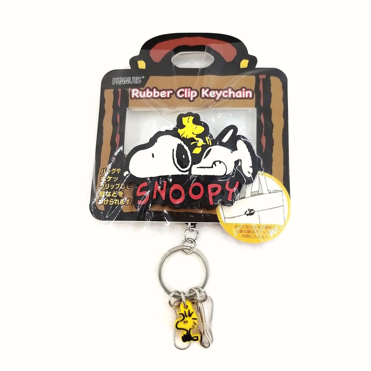 日本snoopy史努比夾式伸縮拉繩鑰匙圈