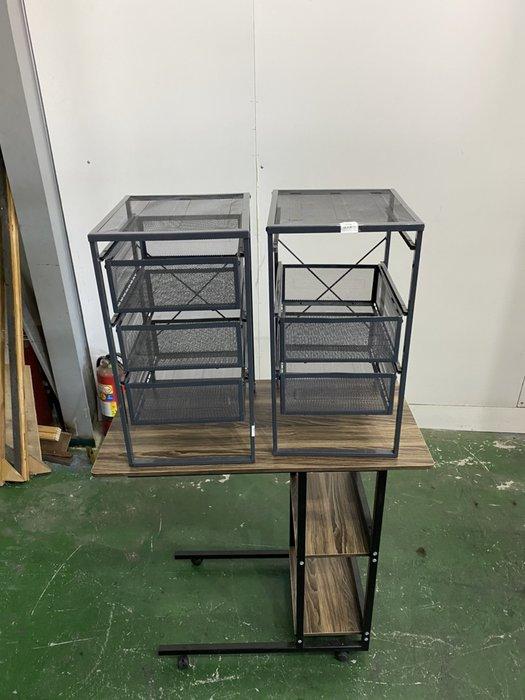 二手家具全省估價(大台北冠均 新五店)二手貨中心--經典簡約收納鐵層架 抽屜櫃 收納置物櫃 J-0011410