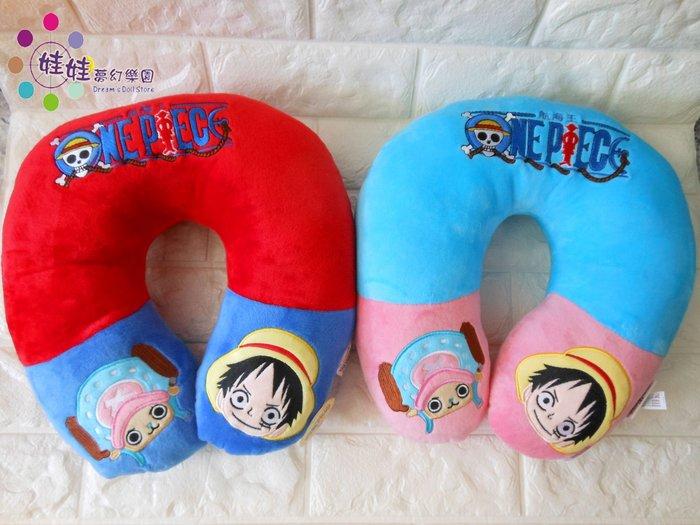 娃娃夢幻樂園~可愛喬巴頸枕~正版海賊王~飛機枕~喬巴U型枕~魯夫頸枕~高雄可自取