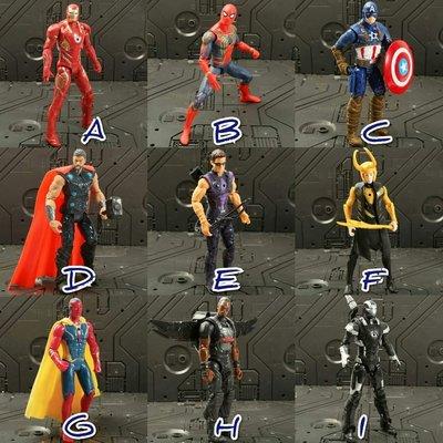復仇者聯盟公仔 雷神索爾、鋼鐵人、反浩克裝甲、蜘蛛人、美國隊長、綠巨人浩克、黑豹、薩諾斯  模型公仔人偶 交換生日禮物