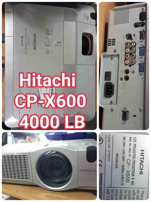 Hitachi CP-X600 4000LB超優的展示機 零件機 〔 家庭劇院 戶外投影機 露營 世足賽〕鴻J