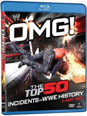 [美國瘋潮]正版 OMG! Top 50 Incidents in WWE History Blu-Ray喔麥尬藍光精選