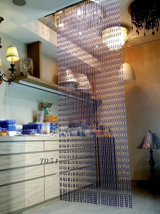 潔西卡水晶手工珠簾 T051 紫水晶珠簾 可依尺寸計價 圓珠水晶簾 古典珠簾 台製手工水晶珠簾