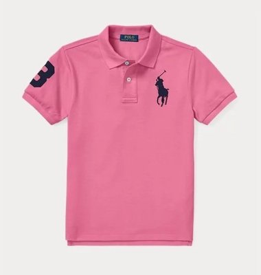 POLO Ralph Lauren 大馬 短袖 polo衫 大男童/青年款 深粉色