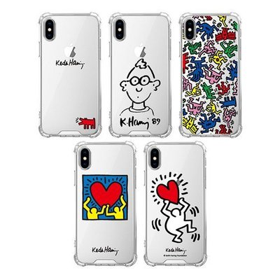 Keith Haring 手機殼│四角氣墊│空壓殼│iPhone 7 8 Plus SE XS MAX XR│z8997