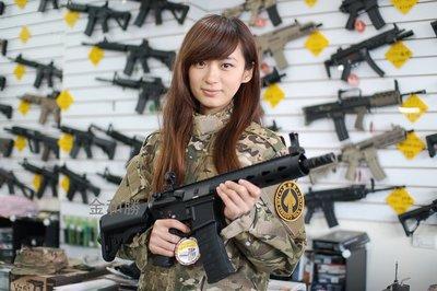 JHS((金和勝 生存遊戲專賣))G&G M4 GC16 FFR 9吋電動槍 6454