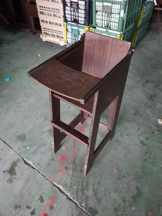 二手家具全省估價(大台北冠均 泰山店)二手貨中心--木製兒童餐椅 折合椅 嬰兒餐椅 幼兒用餐椅 C-032601