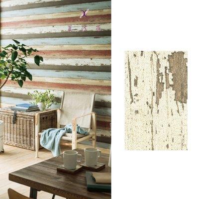 【夏法羅 窗藝】日本進口 仿建材 仿木紋 仿木頭 復古風 鄉村風 壁紙 BB_045054
