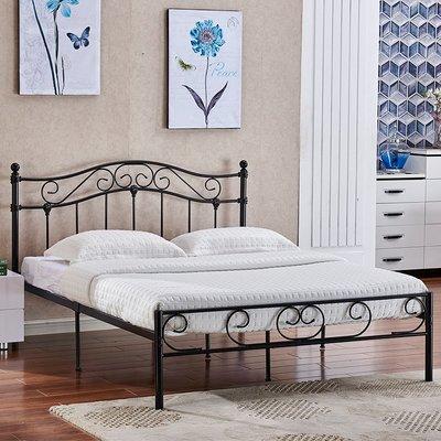 床架 歐式現代簡約鐵藝床臥室公寓雙人鐵床1.5兒童單人鐵架床1.2米igo