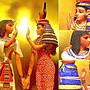 [ Vero 設計作品 手工彩繪-圖坦卡門 與 哈托爾女神 雕像 ]-法老王-Egypt埃及古文明..