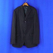 ~快樂~男【專櫃品牌G2000】[全新品] 98%羊毛 黑色條紋 毛料西裝外套 46號