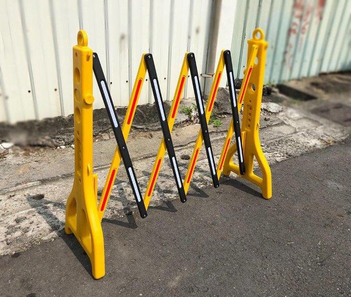 可伸縮護欄(28-250cm)可注水施工隔離欄 反光欄杆 紅龍圍擋 防護欄 交通圍欄 柵欄 移動圍欄 工地圍欄 停車護欄