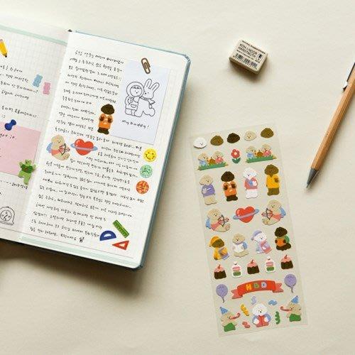 好心情日韓正品雜貨『韓國 dailylike』紙質無痕 手帳日記裝飾貼紙 (1~8號款)