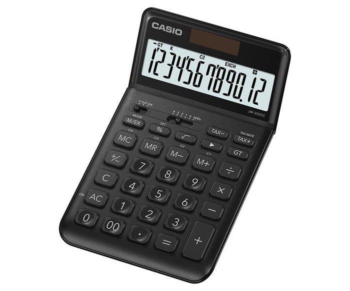 JW-200SC-BK卡西歐CASIO香檳機桌上型12位數計算機(螢幕角度可調整)可自取