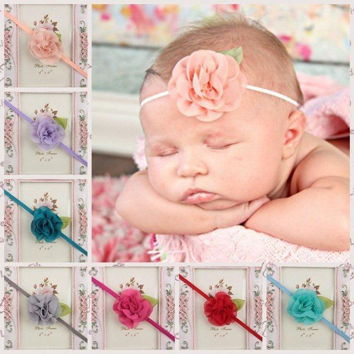 HM嬰幼館【Q236】 2015新款歐美兒童髮帶新生兒嬰兒寶寶髮帶女童女寶公主滿月百日週歲拍照攝影造型/花朵髮帶