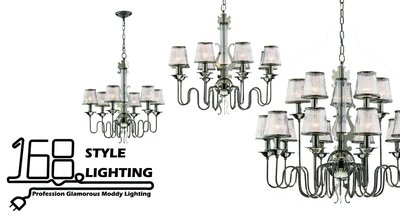 【168 Lighting】素雅優美《時尚吊燈》大款GD 71008
