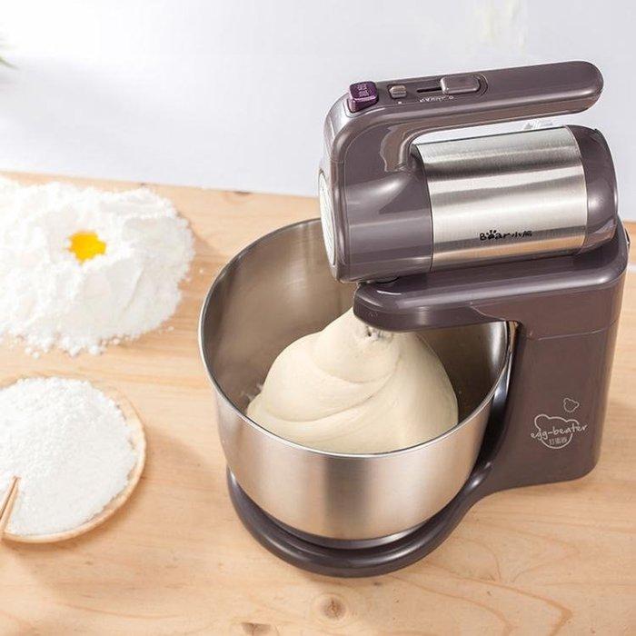 小熊打蛋器電動家用臺式全自動打蛋機帶桶打奶油機烘焙和面攪拌機CY